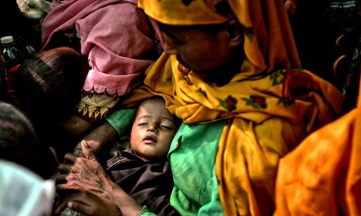Children suffering fever and Jaundice in Maungdaw